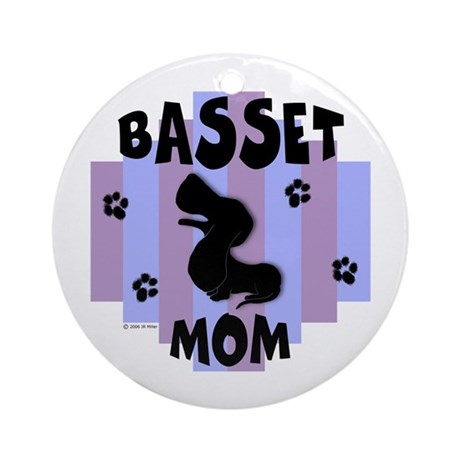 Basset Hound Mom Ornament (Round)