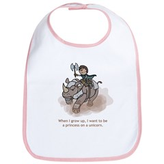 Princess on Unicorn (Grow up) Bib