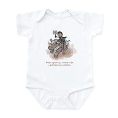 Princess on Unicorn (Grow up) Infant Bodysuit