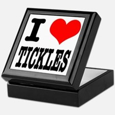 I Heart (Love) Tickles Keepsake Box