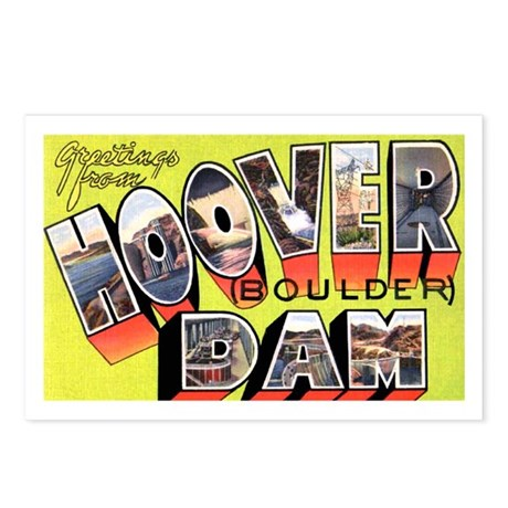 Hoover Boulder Dam Postcards (Package of 8)