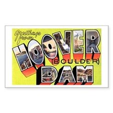 Hoover Boulder Dam Rectangle Bumper Stickers