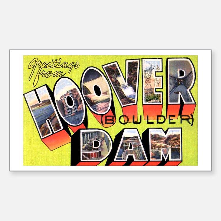 Hoover Boulder Dam Rectangle Decal