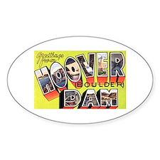 Hoover Boulder Dam Oval Bumper Stickers