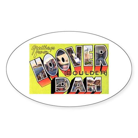 Hoover Boulder Dam Oval Sticker