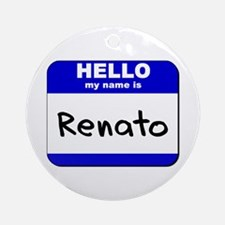 hello my name is renato  Ornament (Round)