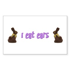 I Eat Ears Rectangle Decal