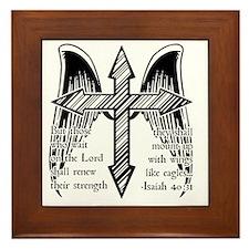 Wings Like Eagles Framed Tile