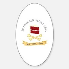 Red Velvet Cake Oval Decal