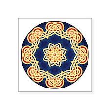 """Celtic Mandala Square Sticker 3"""" x 3"""""""