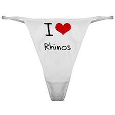 I Love Rhinos Classic Thong