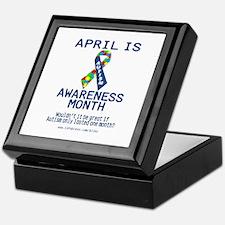Autism Awareness (B) Keepsake Box