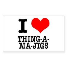 I Heart (Love) Thing-A-Ma-Jigs Sticker (Rectangula