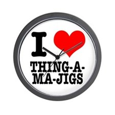 I Heart (Love) Thing-A-Ma-Jigs Wall Clock