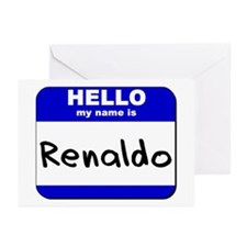 hello my name is renaldo  Greeting Cards (Package