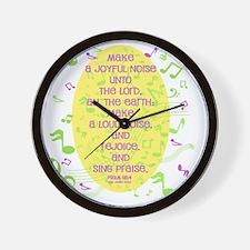 Psalm 98 4 Wall Clock