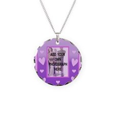 Cute pink love heart photo Necklace