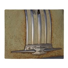 Pontiac 53 chrome Throw Blanket