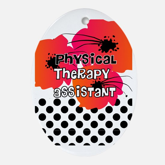 physical therapist asst3 Oval Ornament