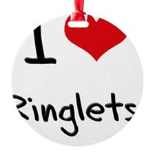 I Love Ringlets Ornament