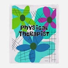 physical therapist 3 Throw Blanket