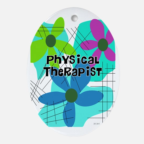 physical therapist 3 Oval Ornament