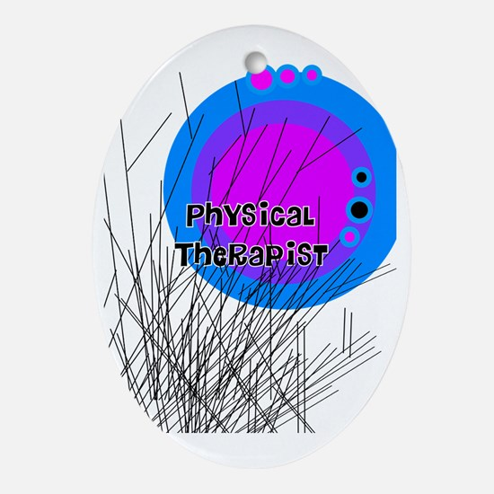 physical therapist 999 Oval Ornament