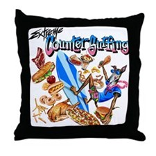 Extreme Counter Surfing Throw Pillow