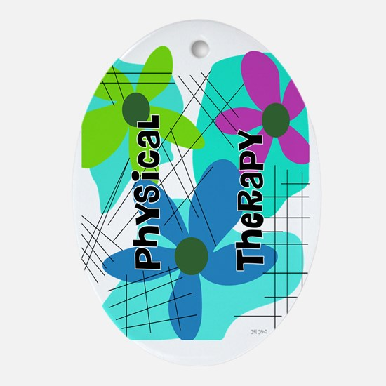 physical therapist 2 Oval Ornament