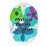 Physical therapy assistant Oval Ornaments