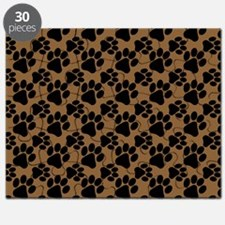 Dog Paws Brown Puzzle