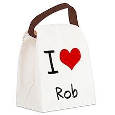 I Love Rob Canvas Lunch Bag