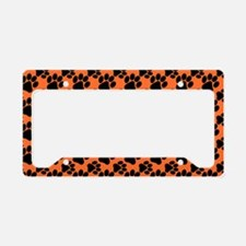 Dog Paws Clemson Orange License Plate Holder