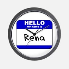 hello my name is rena  Wall Clock
