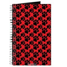 Dog Paws Red Journal