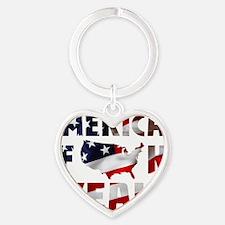 America Yeah! - Flag Heart Keychain