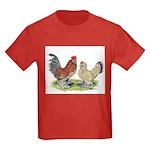 Blue Mille Fleur d'Uccles Kids Dark T-Shirt