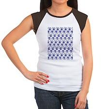 Blue Indian Head Dress Women's Cap Sleeve T-Shirt