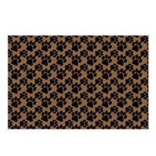 Dog Paws Brown Postcards (Package of 8)