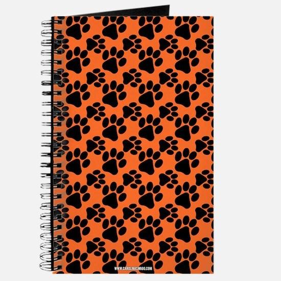 Dog Paws Clemson Orange Journal