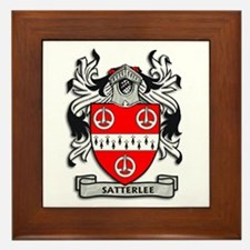 Cute Satterley family crest Framed Tile
