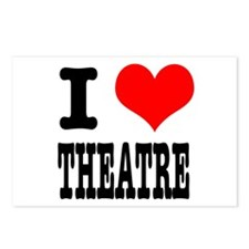 I Heart (Love) Theatre Postcards (Package of 8)