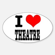 I Heart (Love) Theatre Oval Decal