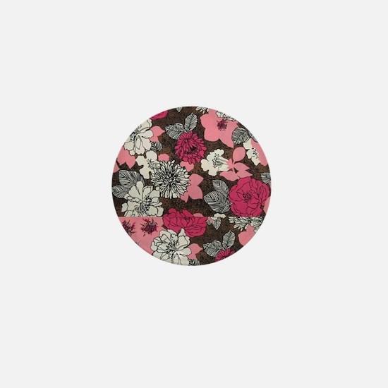 flower collage  Mini Button