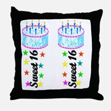 16 AND FABULOUS Throw Pillow
