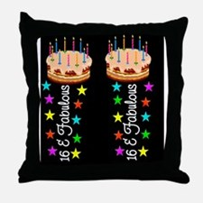 STRIKING 16TH Throw Pillow
