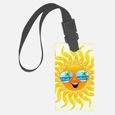 Summer Sun Cartoon with Sunglass Luggage Tag
