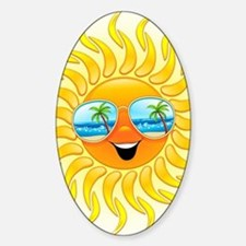 Summer Sun Cartoon with Sunglasses Bumper Stickers