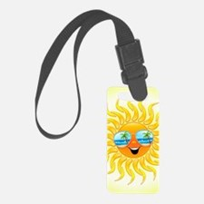 Summer Sun Cartoon with Sunglass Luggage Tag