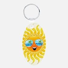 Summer Sun Cartoon with Sun Keychains